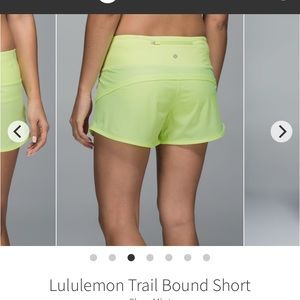 Lululemon 3.5 inseam hiking shorts clear mint